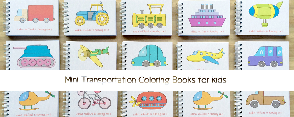 Transportation coloring book