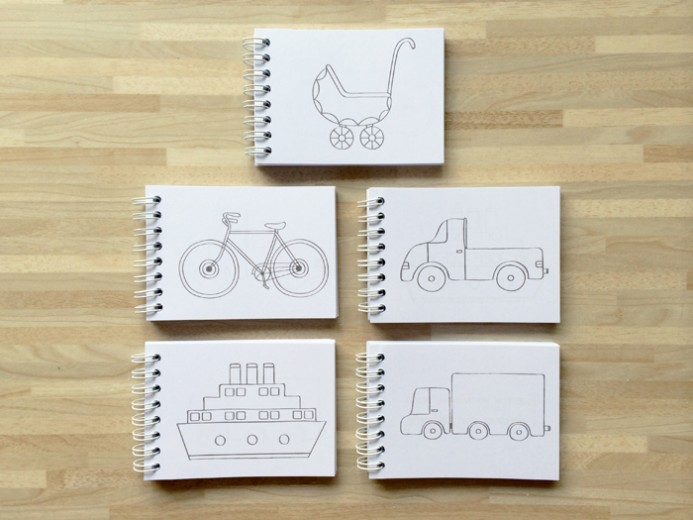 Transportation coloring book 9