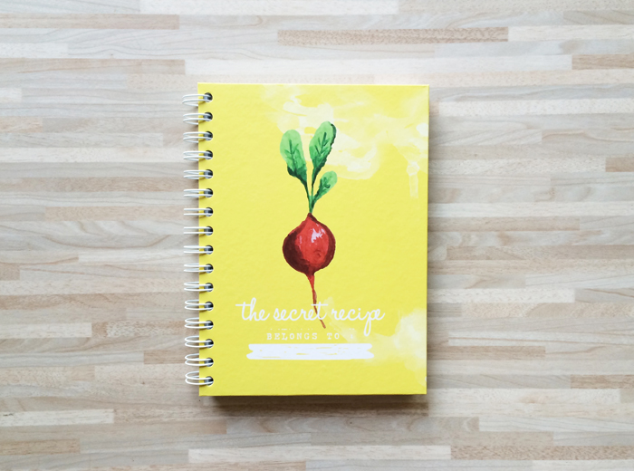 Recipe book yellow