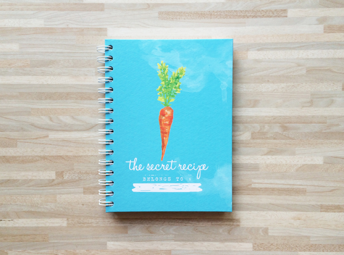 Recipe book blue
