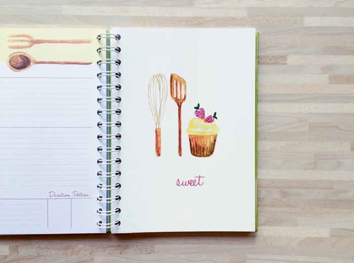 Recipe book sweet