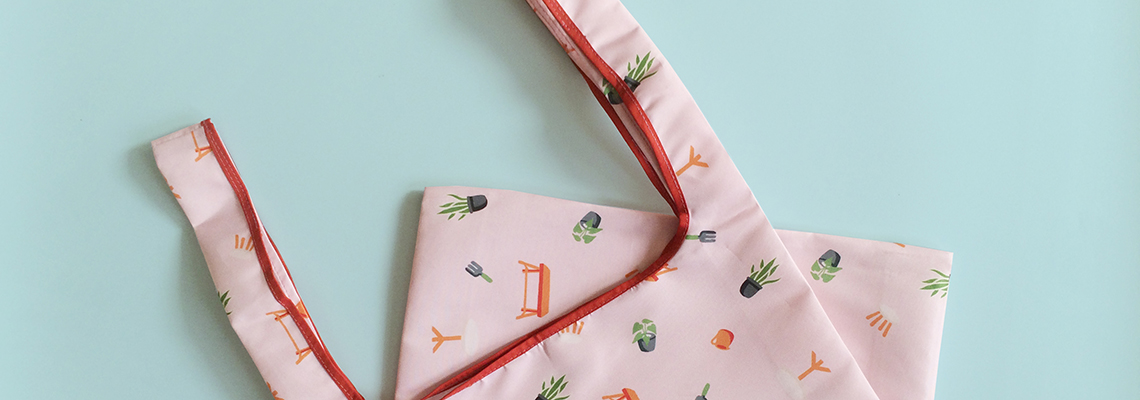 Peach Garden Shopping Bag Banner
